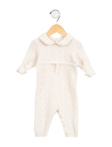 Ralph Lauren Girls' Cable-Knit Cashmere All-In-One None
