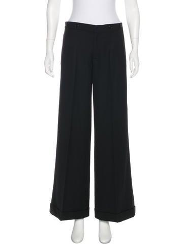 Ralph Lauren Wool Wide-Leg Pants None