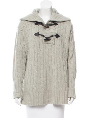 Ralph Lauren Wool & Cashmere Cable Knit Sweater None