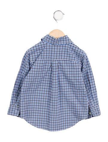 Polo  Boys' Plaid Button-Up Shirt