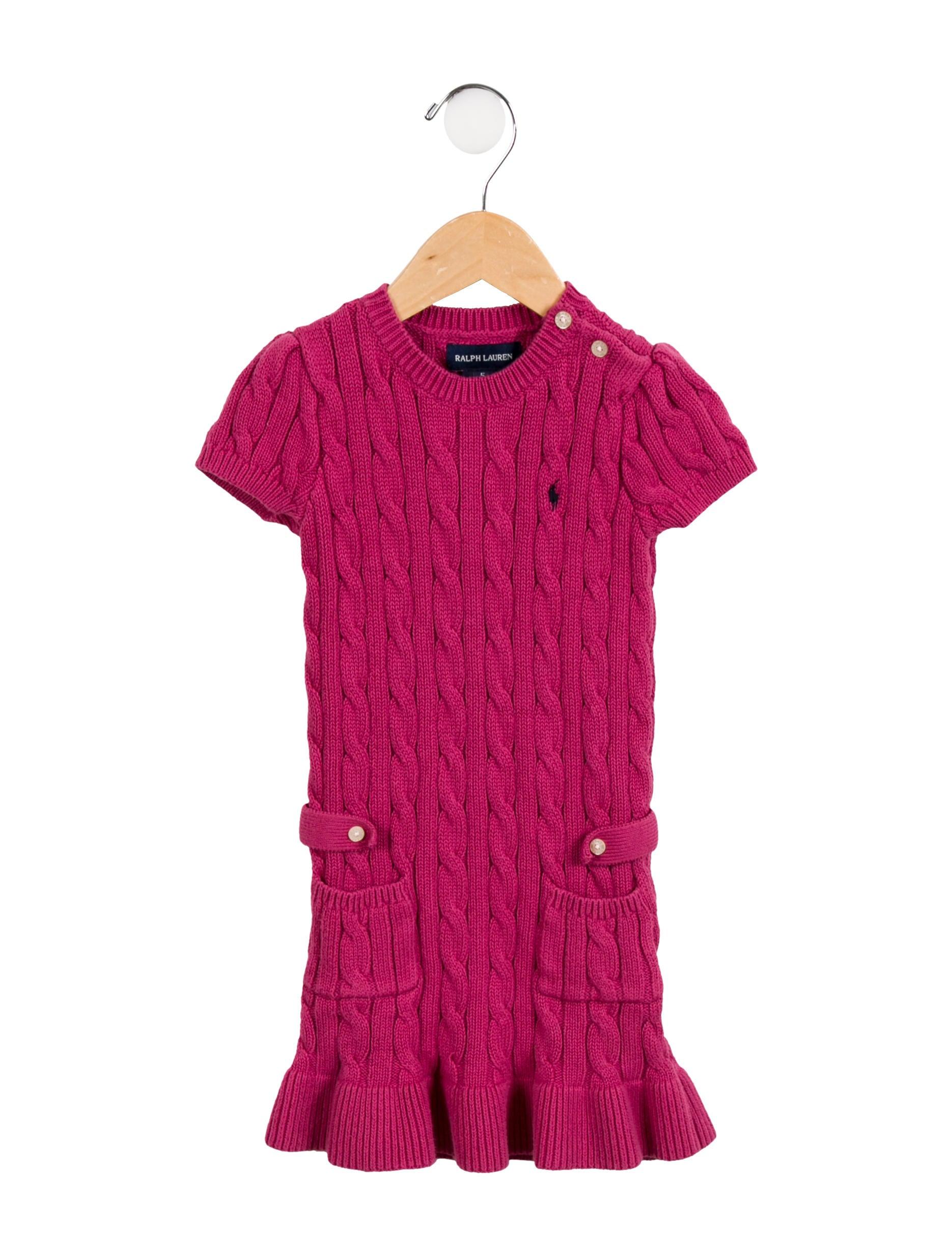 66f19ba1698a79 Ralph Lauren Girls' Cable Knit Sweater Dress - Girls - WYG26666 ...