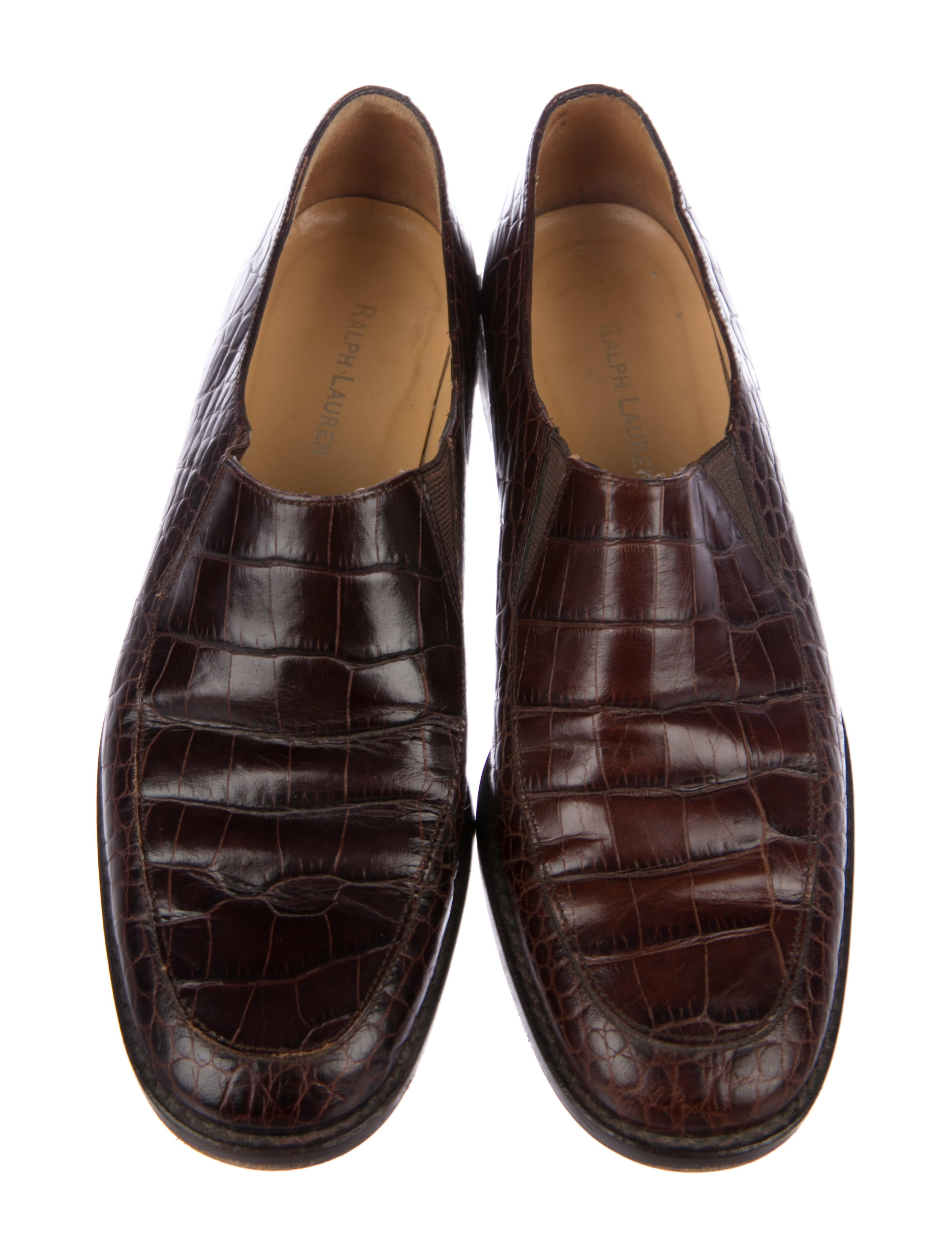 sale low shipping Ralph Lauren Alligator Round-Toe Loafers clearance official uMXfSZGiCB