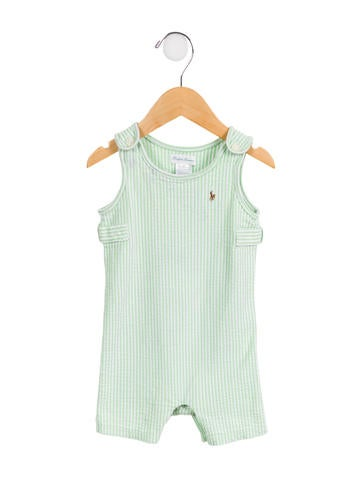 Ralph Lauren Boys' Striped Sleeveless All-in-One None