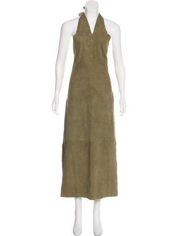 Ralph Lauren Sleeveless Suede Dress None