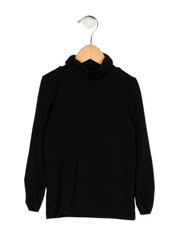 Ralph Lauren Girls' Knit Turtleneck Top None