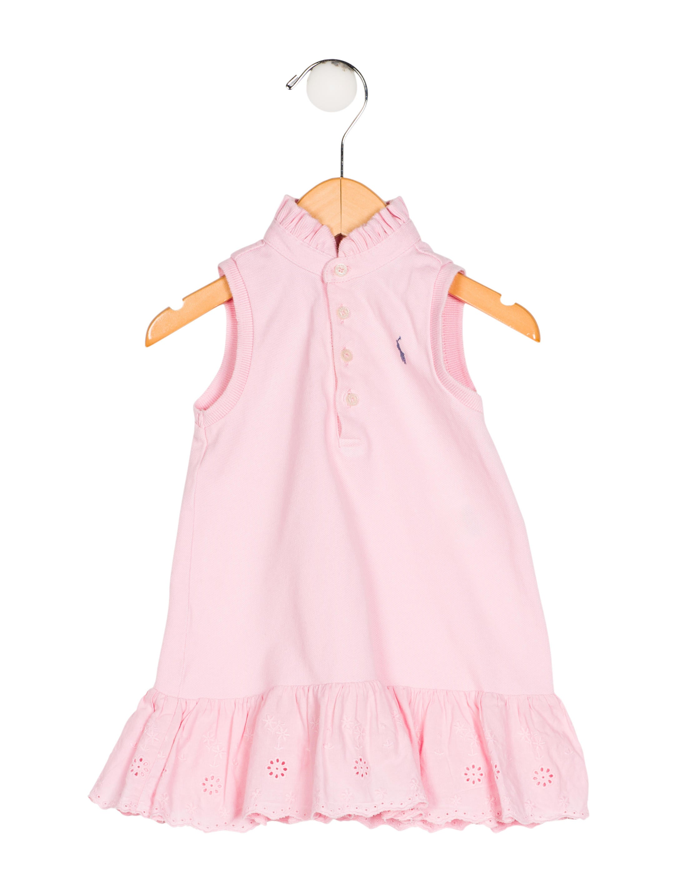 Ralph Lauren Girls Eyelet Knit Dress Girls WYG