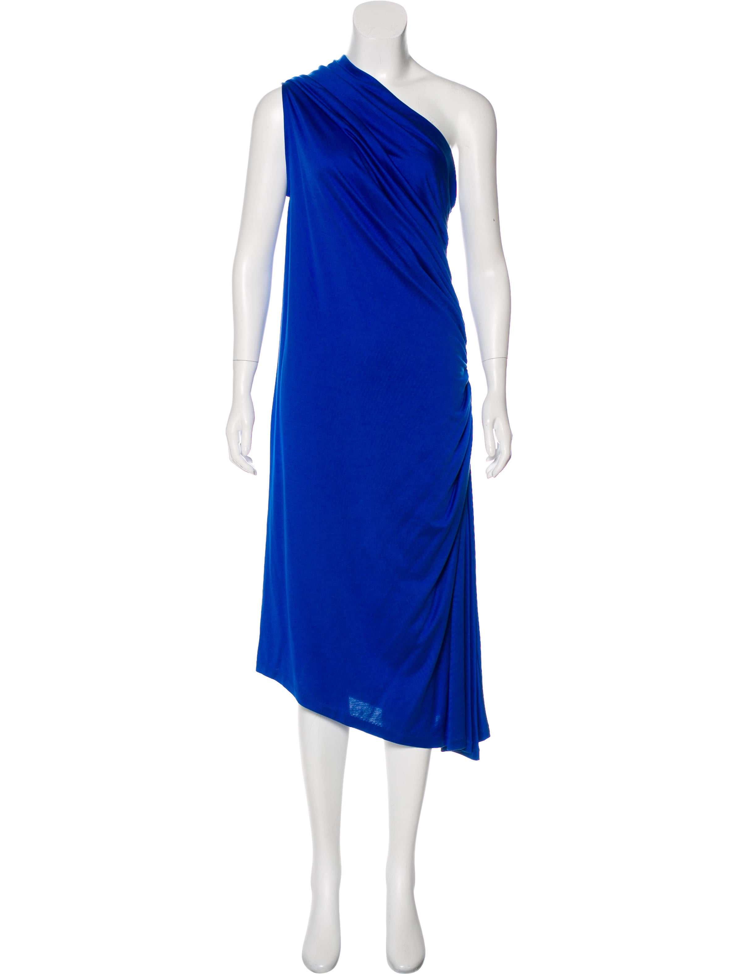 Ralph Lauren Ruched One-Shoulder Dress w/ Tags - Clothing - WYG28341 ...