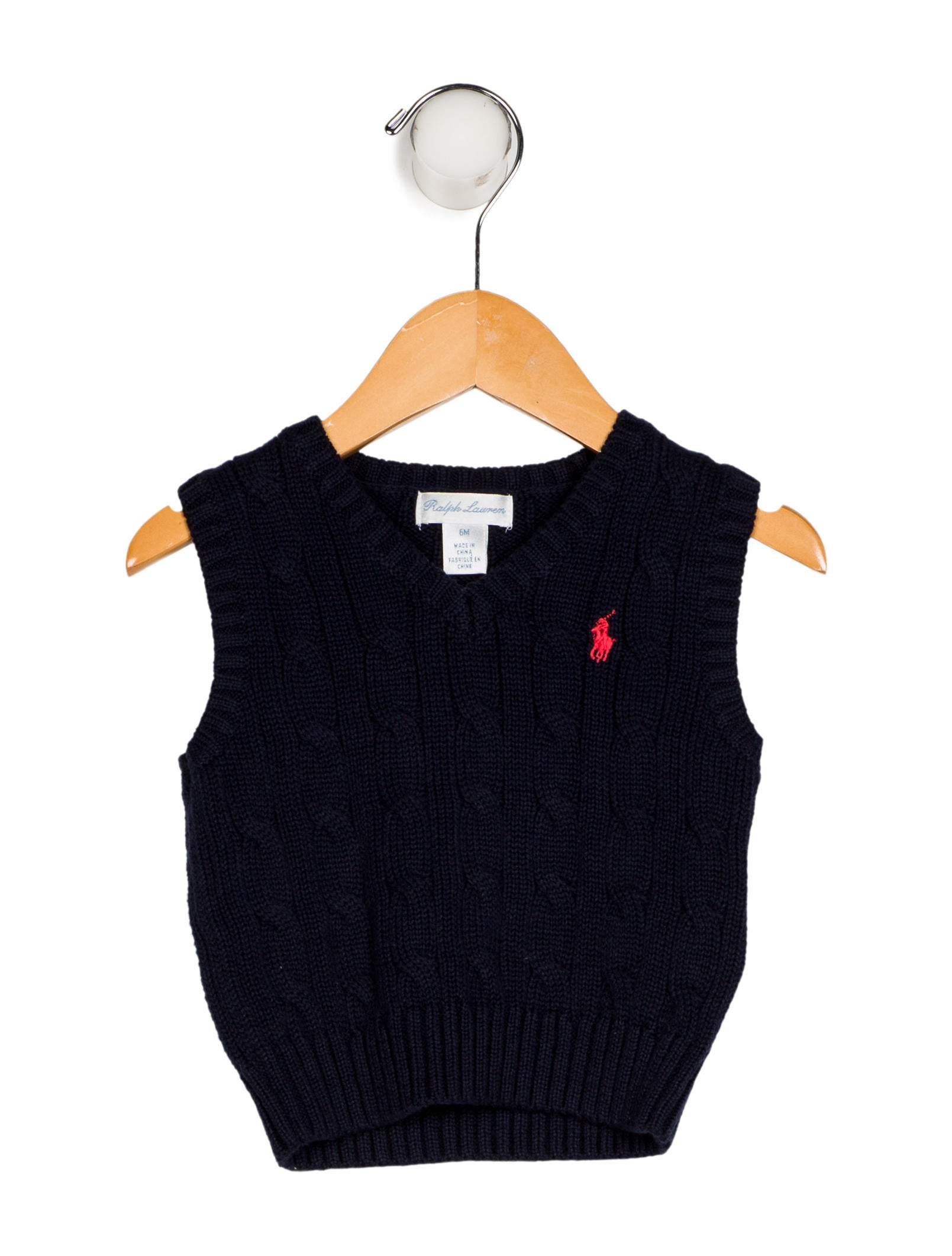96a1dc884bfd Ralph Lauren Boys  Cable Knit Sweater Vest w  Tags - Boys - WYG30518 ...