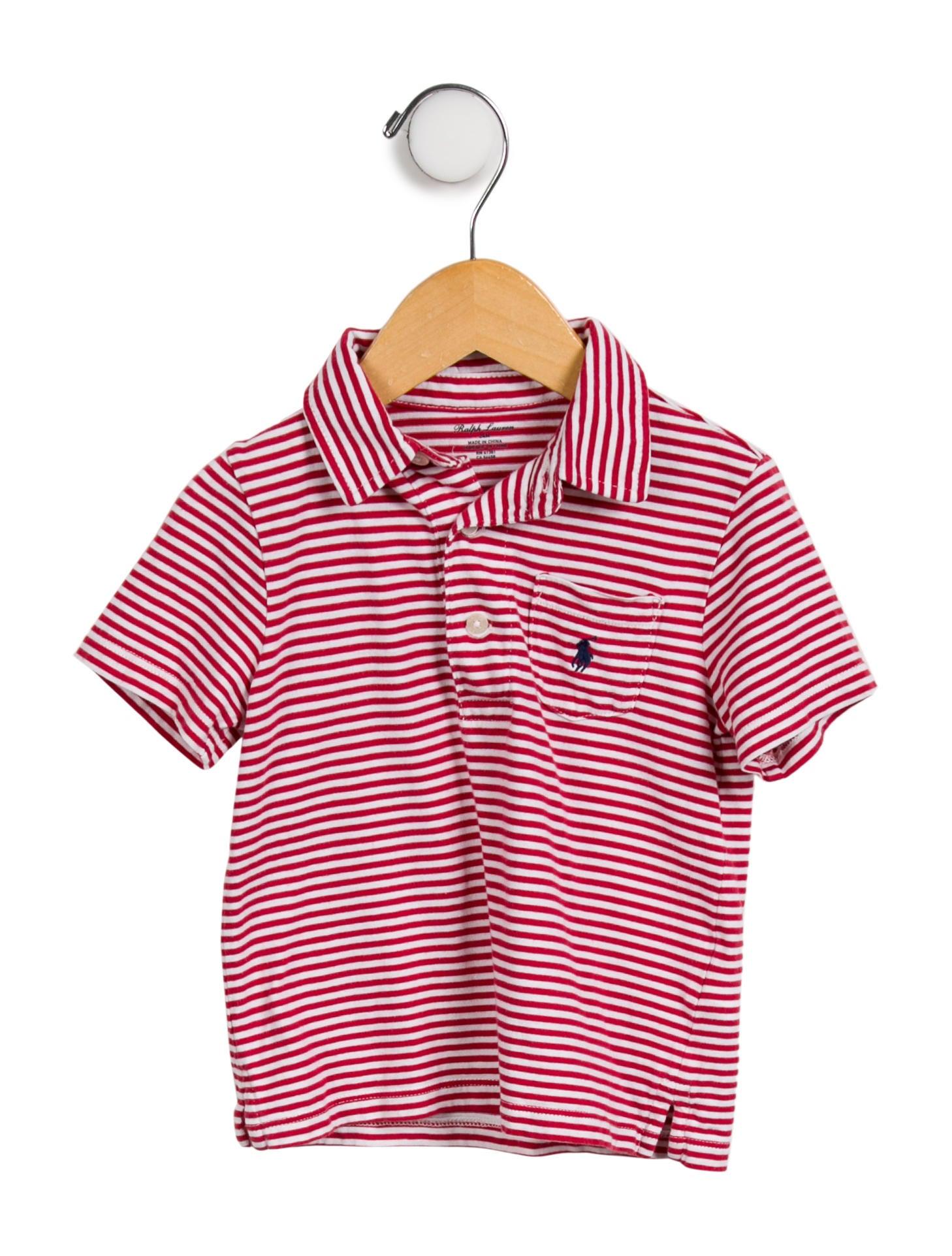 Ralph Lauren Boys Striped Polo Shirt Boys Wyg31804 The Realreal