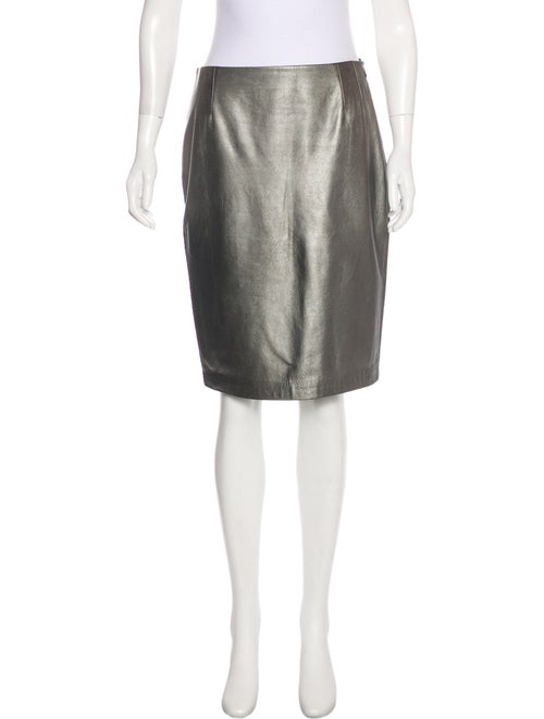 Ralph Lauren Metallic Knee-Length Skirt Metallic