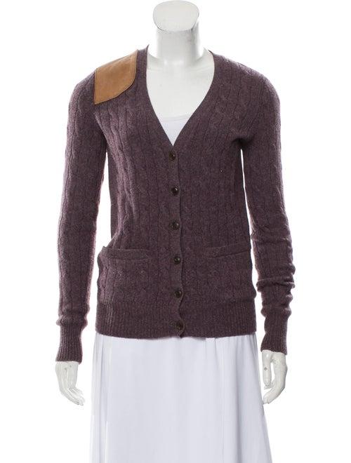 Ralph Lauren Wool Leather-Accented Cardigan Auberg