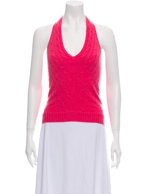 Ralph Lauren Cashmere Halterneck Sweater Pink