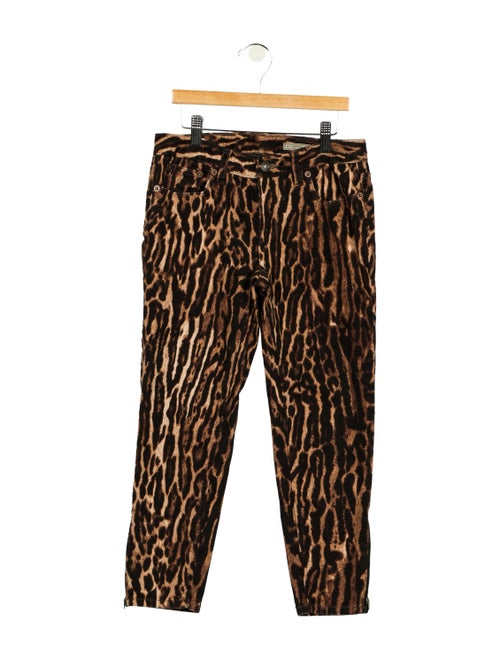 Ralph Lauren Animal Print Skinny Leg Pants