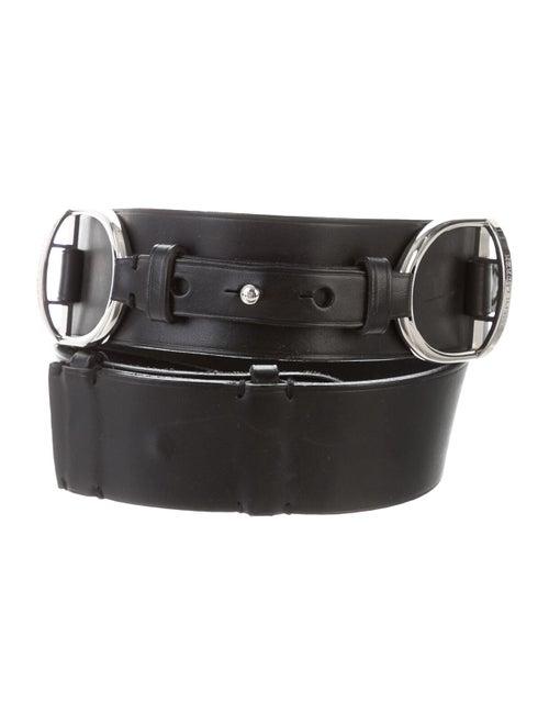 Ralph Lauren Leather Wide Waist Belt Black