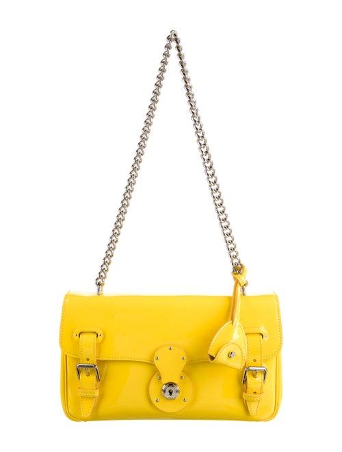 Ralph Lauren Ricky Chain Shoulder Bag Yellow