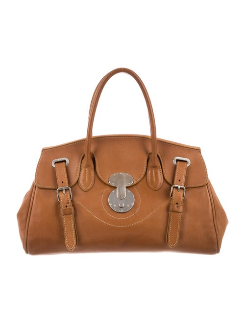 Ralph Lauren Ricky Top Handle Bag Brown - image 1