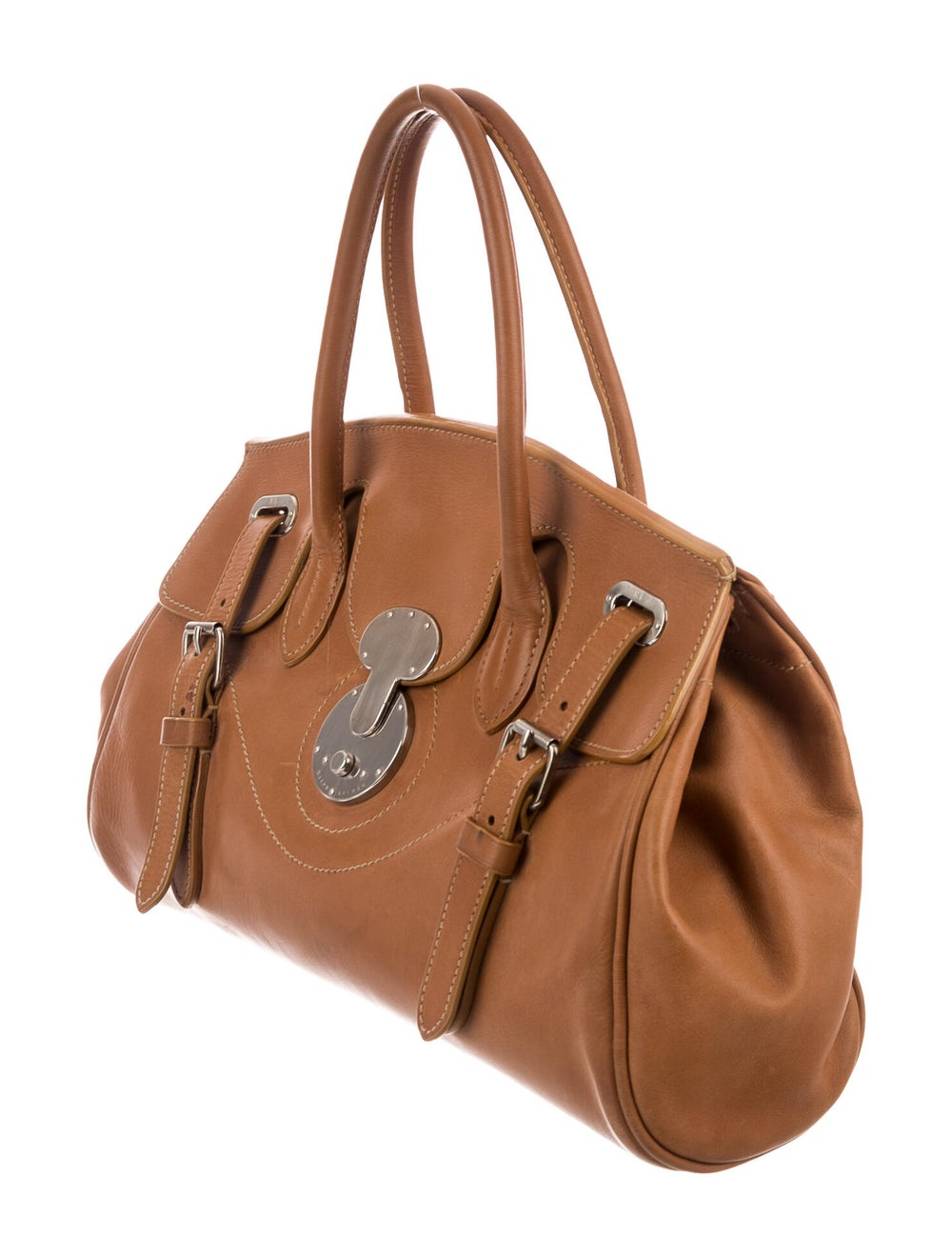 Ralph Lauren Ricky Top Handle Bag Brown - image 3