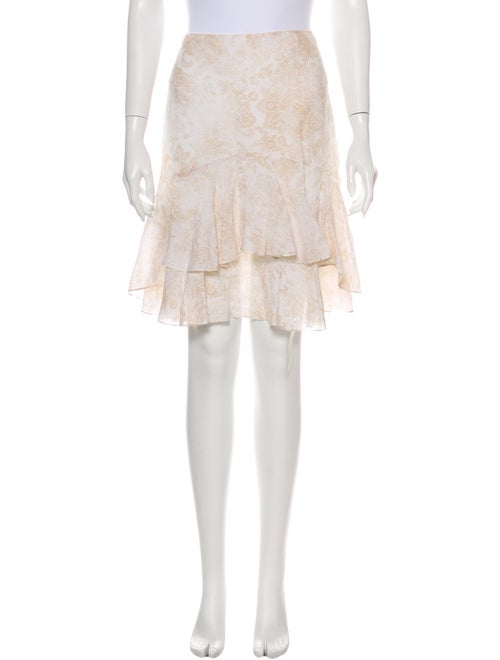 Ralph Lauren Linen Knee-Length Skirt Metallic