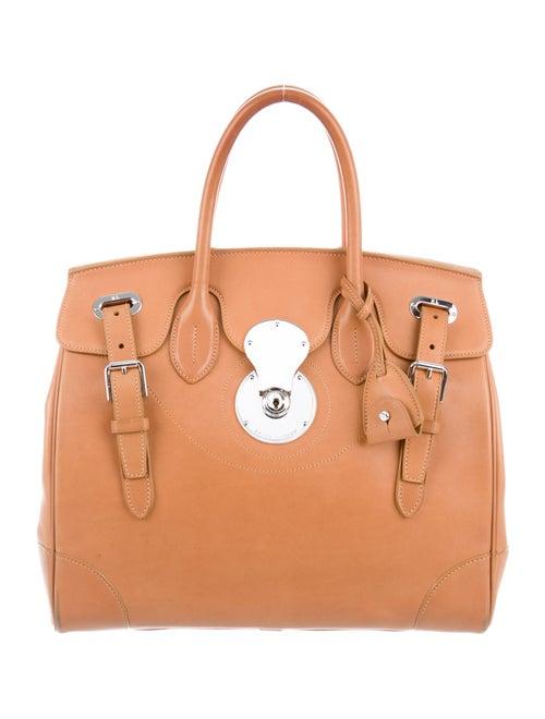 Ralph Lauren Leather Ricky 33 Bag Brown