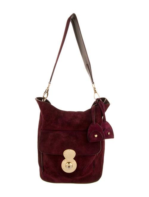 Ralph Lauren Suede Bucket Bag Gold