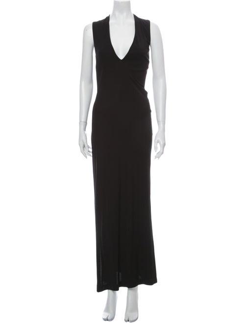 Ralph Lauren V-Neck Long Dress Black