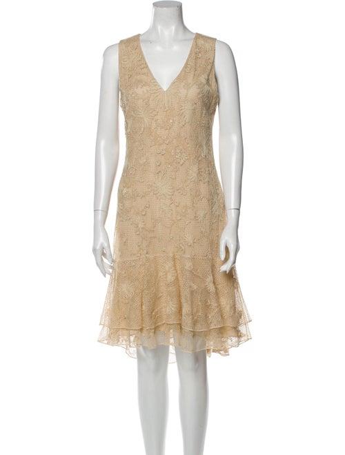 Ralph Lauren Lace Pattern Knee-Length Dress
