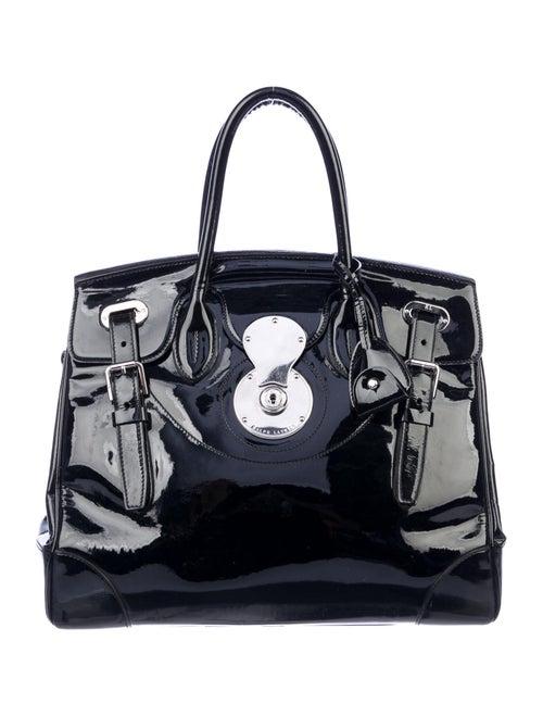 Ralph Lauren Patent Leather Ricky 33 Bag Black