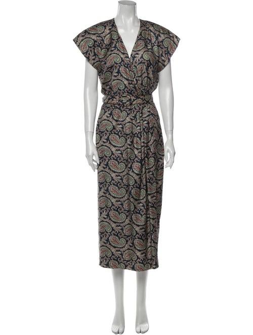 Ralph Lauren Silk Long Dress Blue