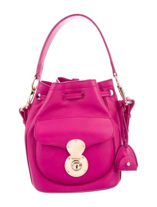 Ralph Lauren Leather Ricky Bucket Bag Magenta