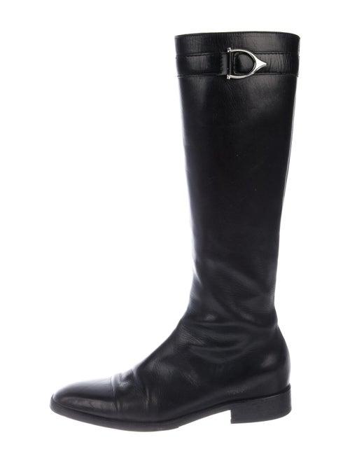 Ralph Lauren Leather Riding Boots Black