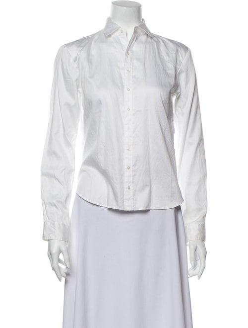 Ralph Lauren Long Sleeve Button-Up Top White