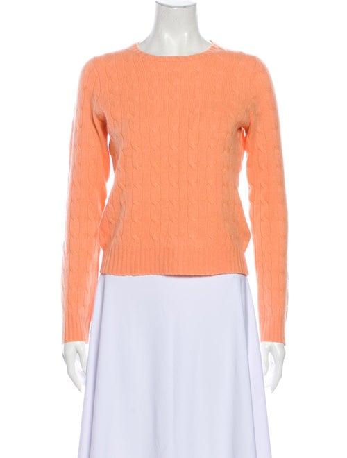 Ralph Lauren Cashmere Crew Neck Sweater Orange