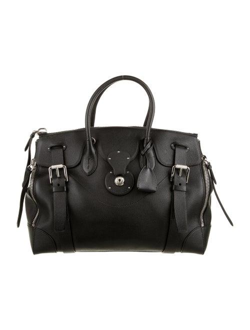 Ralph Lauren Leather Ricky 33 Bag Black