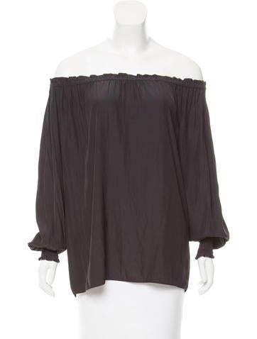 Ramy Brook Long Sleeve Off-The-Shoulder Top None