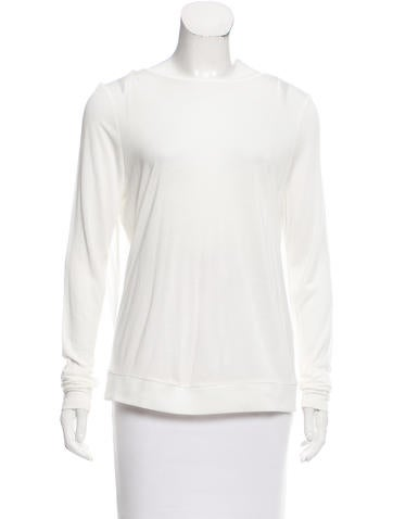 Ramy Brook Mesh-Trimmed Long Sleeve Top None