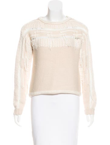Ramy Brook Fringe-Trimmed Wool Sweater None