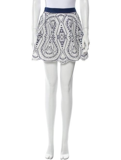 Ramy Brook Printed Mini Skirt w/ Tags White