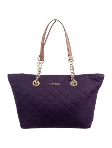 Calvin Klein Quilted Nylon Tote Handbags Wyl20158