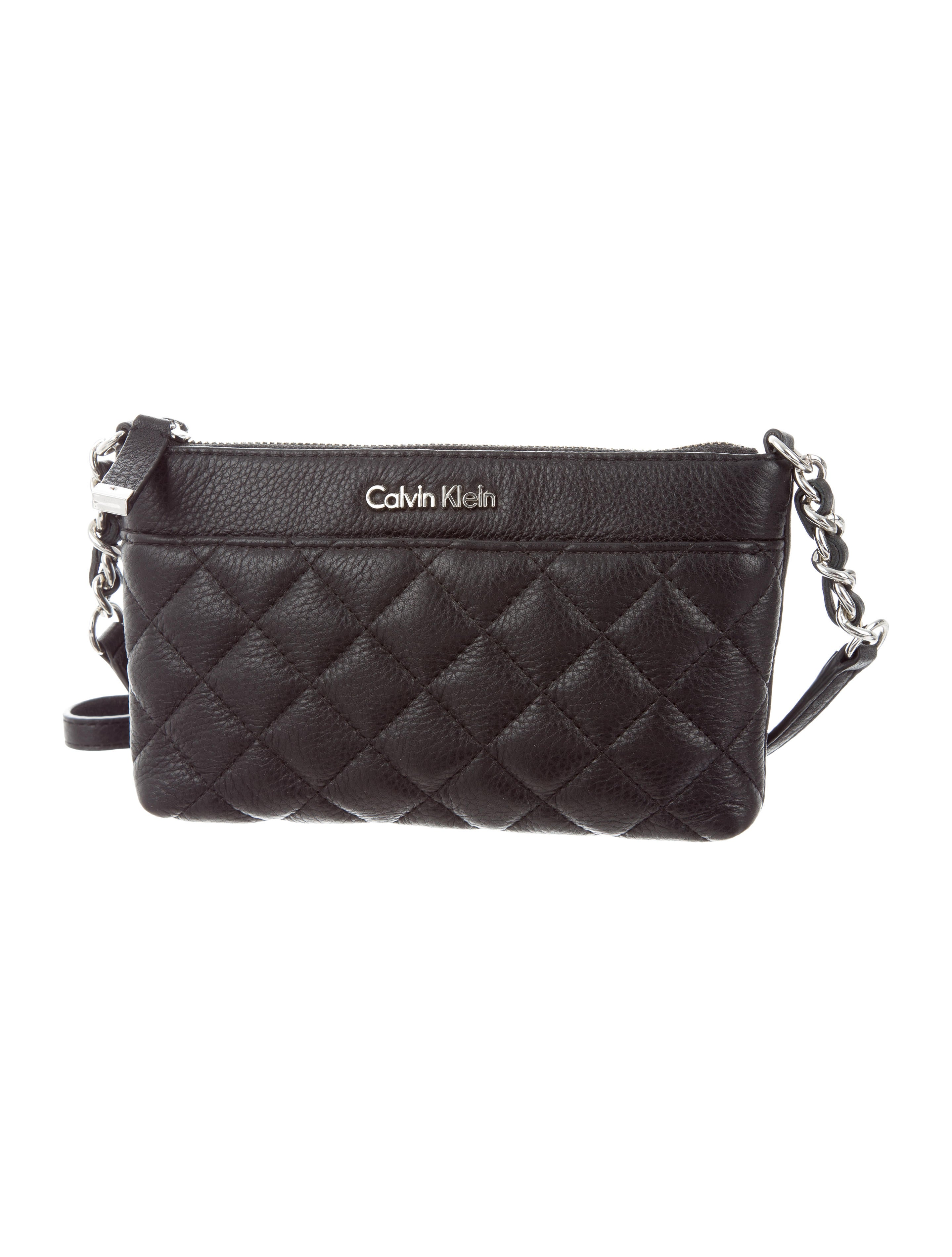 Calvin Klein Quilted Leather Crossbody Bag Handbags