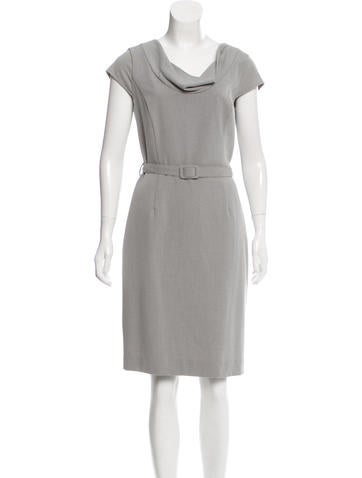 Calvin Klein Cowl Neck Shift Dress None