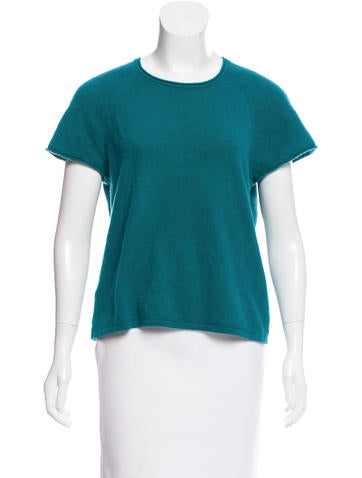 Calvin Klein Short Sleeve Cashmere Top None