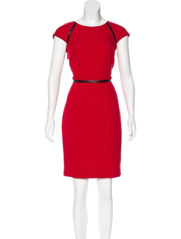 Calvin Klein Short Sleeve Knee-Length Dress None