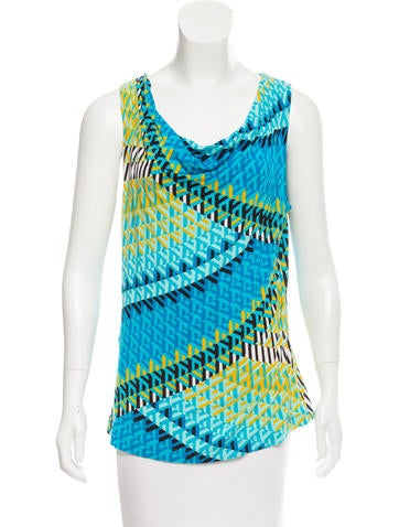 Calvin Klein Sleeveless Printed Top None