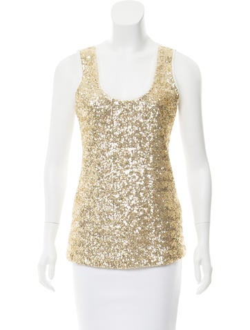 Calvin Klein Embellished Scoop Neck Top None