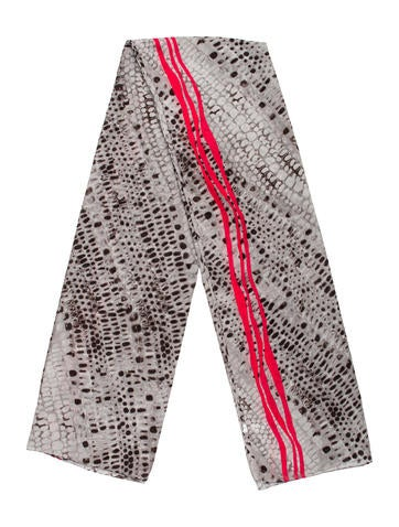 Calvin Klein Abstract Printed Scarf None