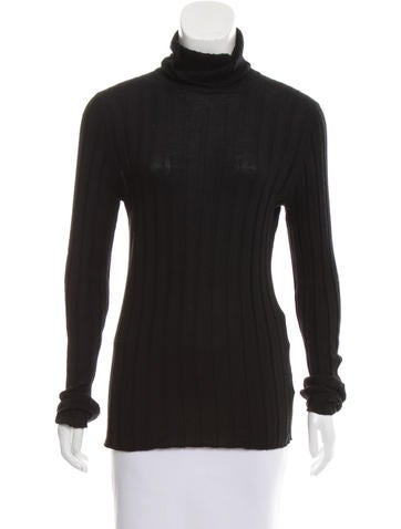 Calvin Klein Cashmere Turtleneck Top None