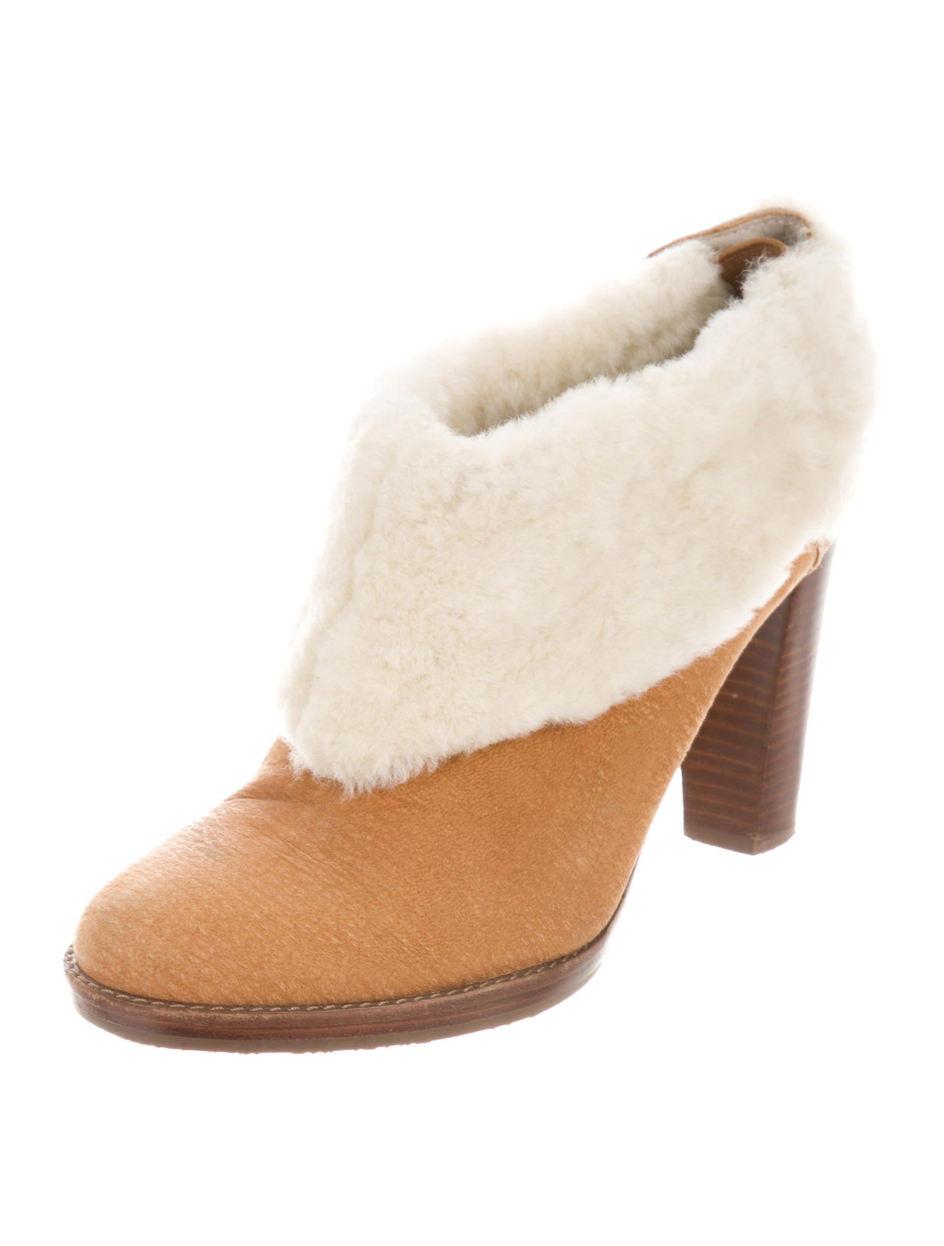 best place cheap online browse for sale Calvin Klein Sherpa-Trimmed Suede Booties visit cheap price clearance professional discount fast delivery qnQOj