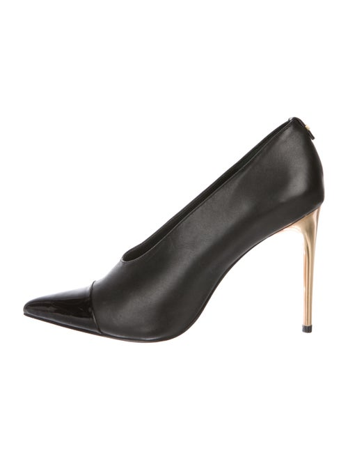 fca76525edb69 Calvin Klein Leather Cap-Toe Pumps - Shoes - WYL22343 | The RealReal