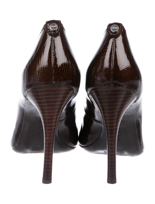 b66ac52a8b0 Calvin Klein Embossed Patent Leather Whinnie Pumps - Shoes ...