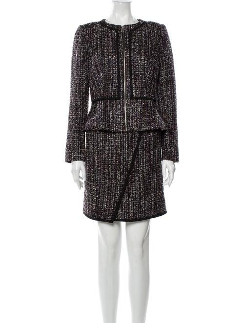 Calvin Klein Tweed Pattern Skirt Set w/ Tags Black - image 1
